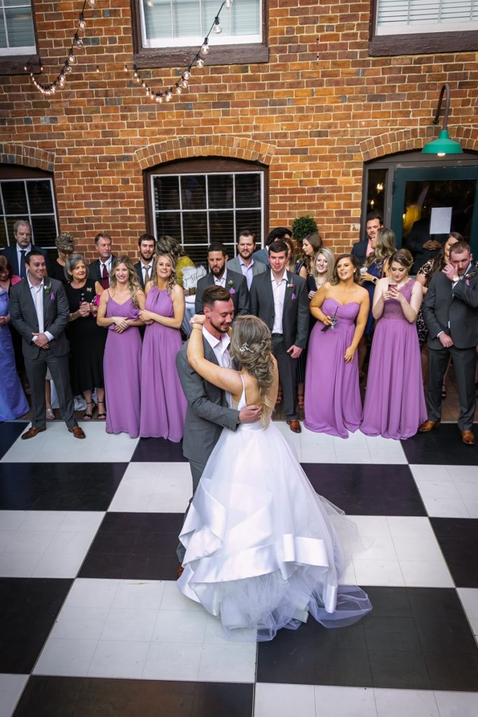 Bride and Groom First Dance at Brookstown Inn